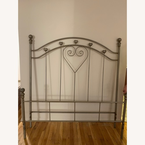 Vintage Solid Cast Iron Bed Frame w/ Headboard