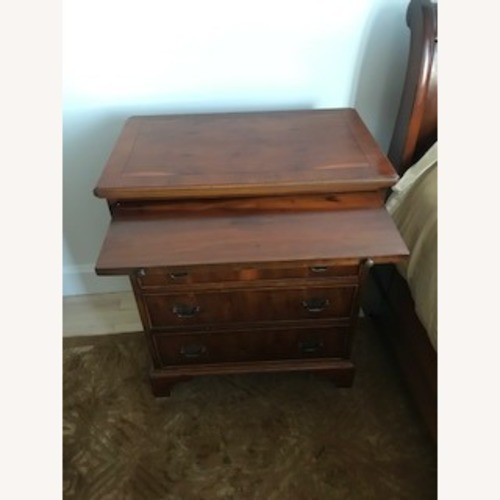 ABC Carpet and Home Yew Wood Nightstands