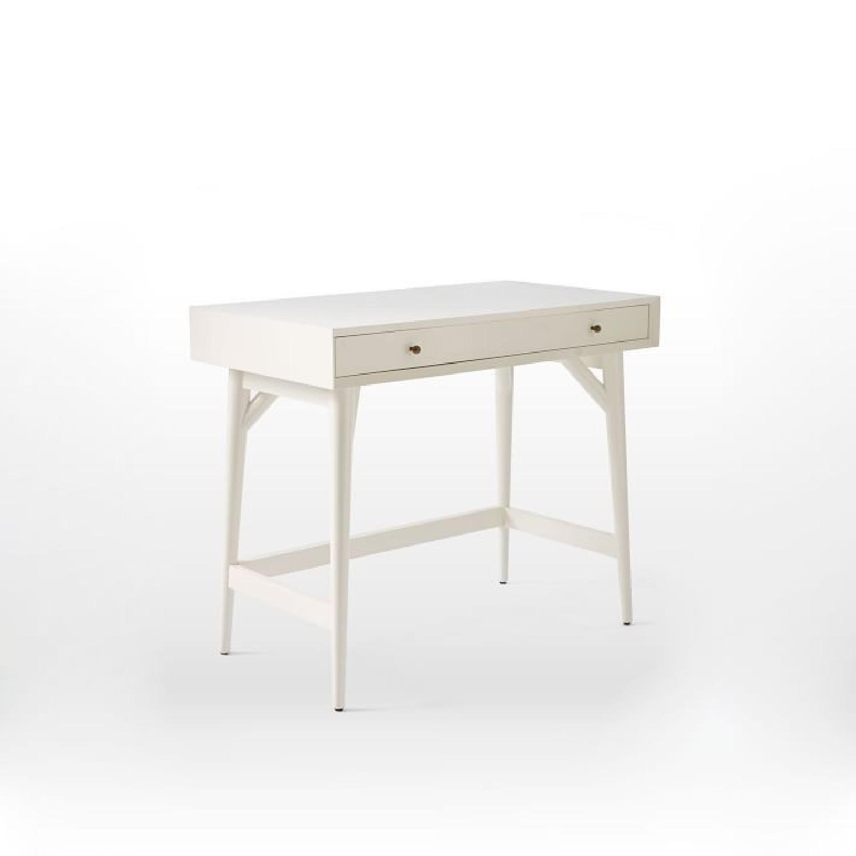 West Elm Mid-Century White Desk - image-1