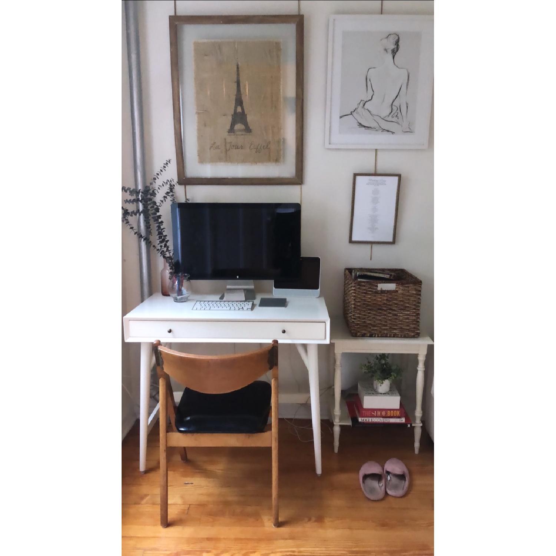 West Elm Mid-Century White Desk - image-2