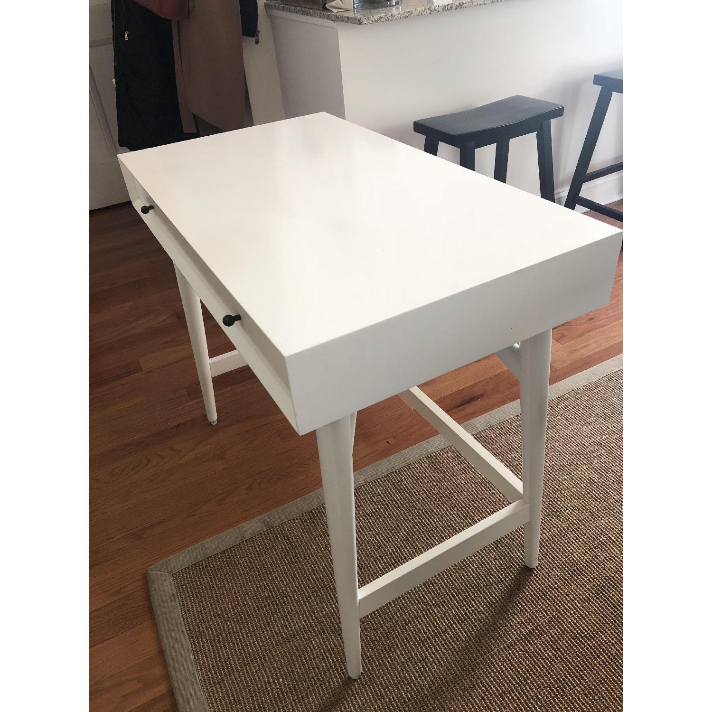 West Elm Mid-Century White Desk - image-6