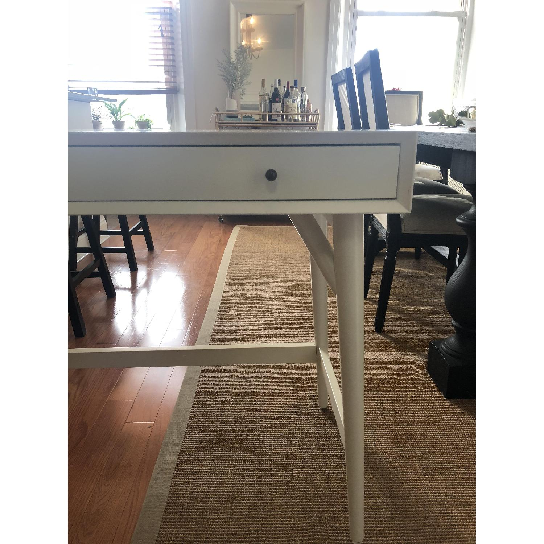 West Elm Mid-Century White Desk - image-7
