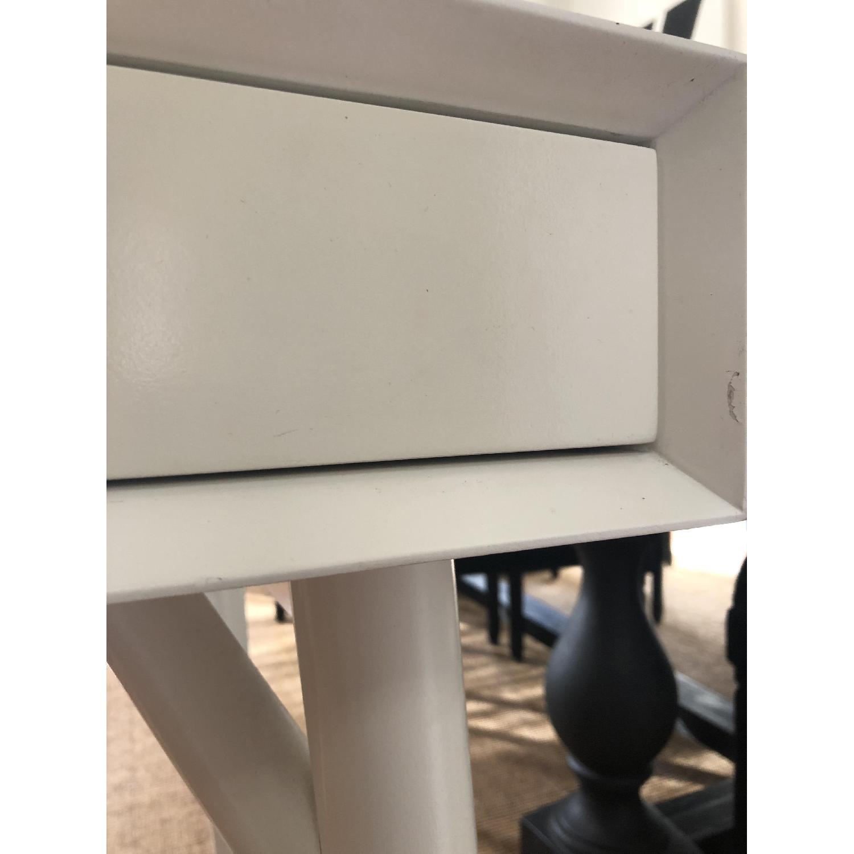 West Elm Mid-Century White Desk - image-9