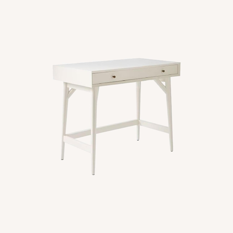 West Elm Mid-Century White Desk - image-0