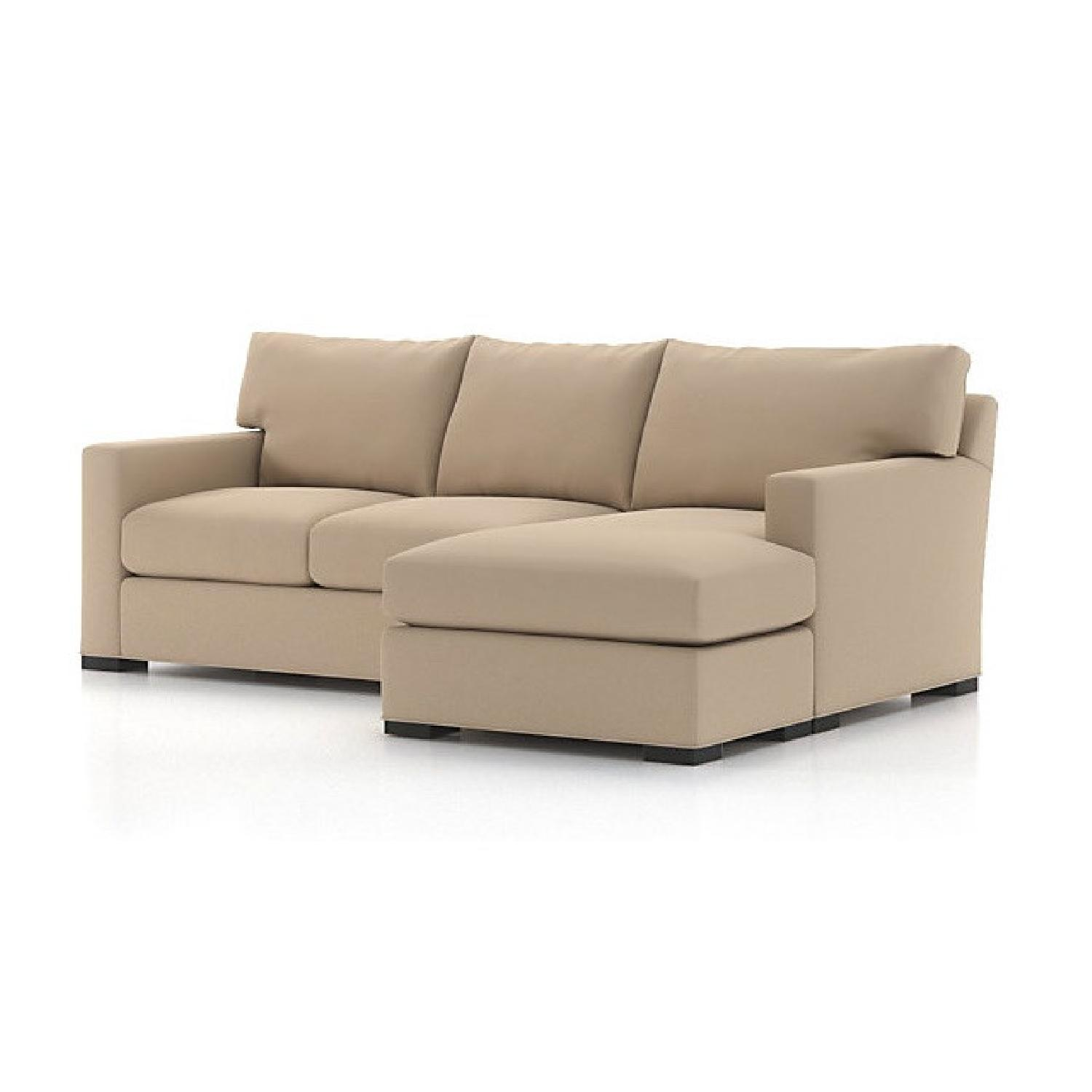 Crate & Barrel Davis Chaise Sectional Sofa