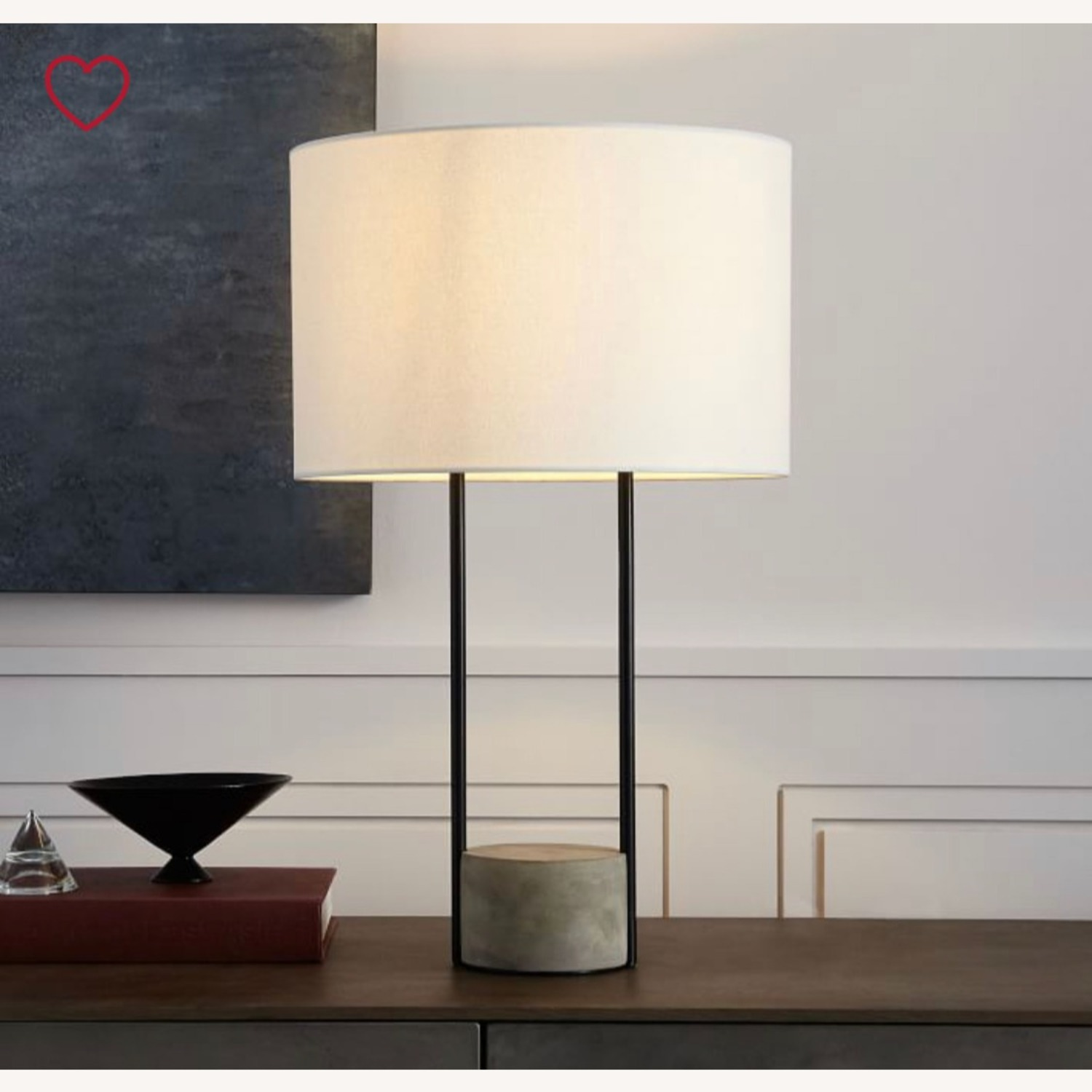 West Elm Industrial Outline Table Lamp