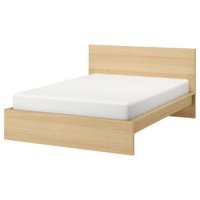 Ikea Malm Oak King Bed Frame - image-0