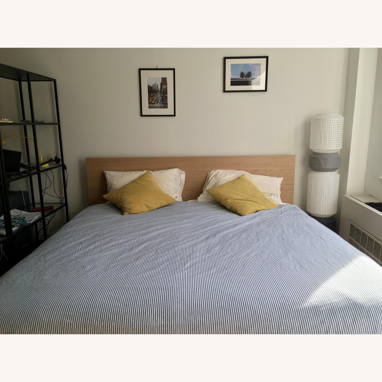 Ikea Malm Oak King Bed Frame - image-1