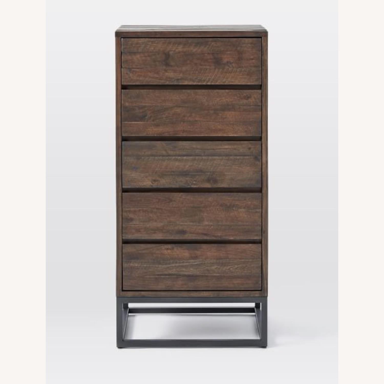 West Elm Logan Industrial 5-Drawer Dresser in Smoked Brown - image-3
