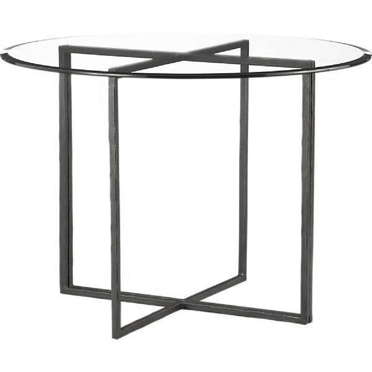 Crate & Barrel Glass Dining Table w/ 4 Chairs