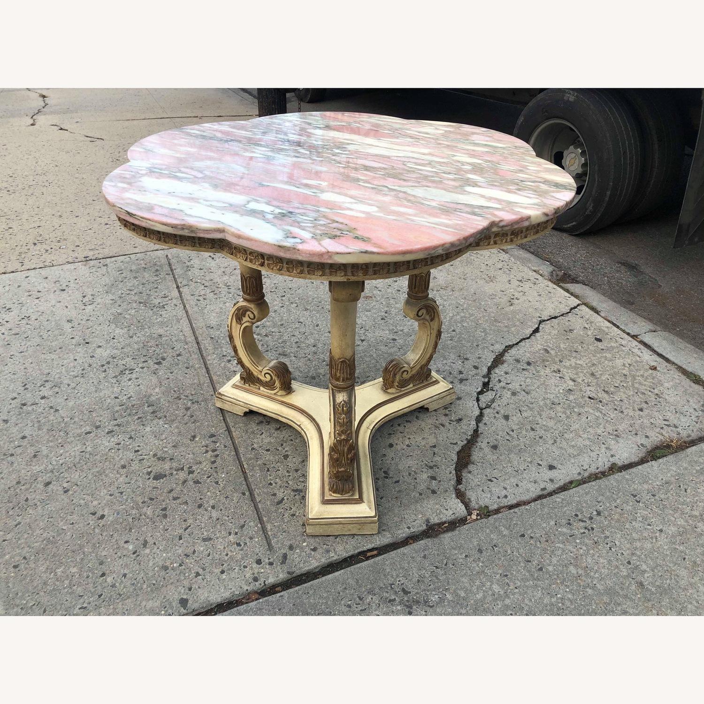 Vintage Italian Marble Top Side Table - image-1