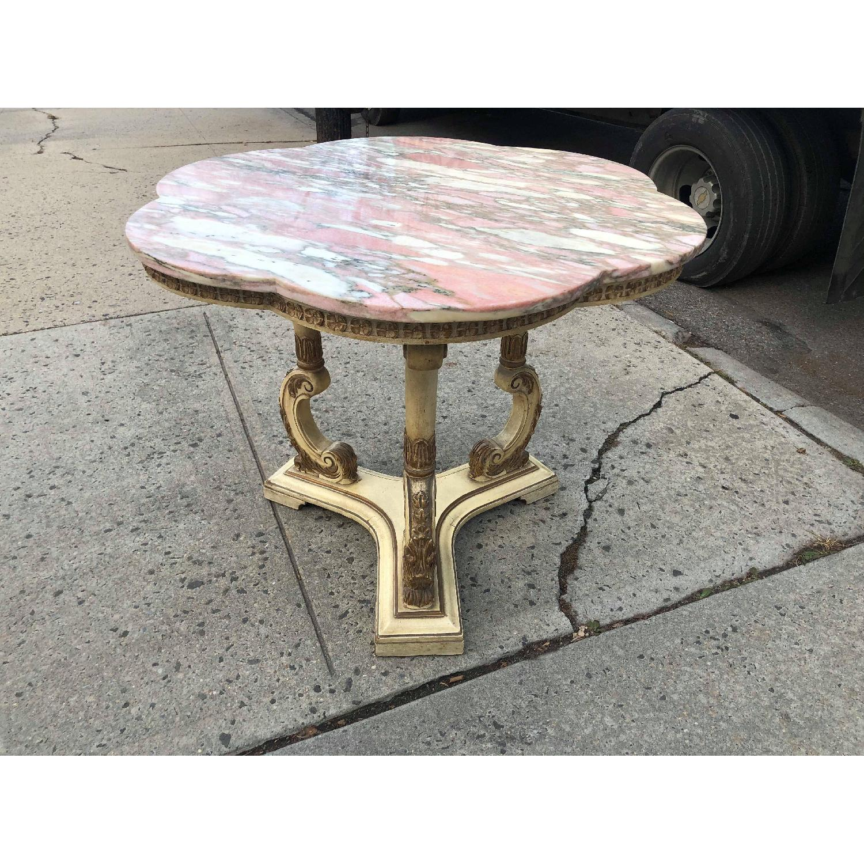 Vintage Italian Marble Top Side Table