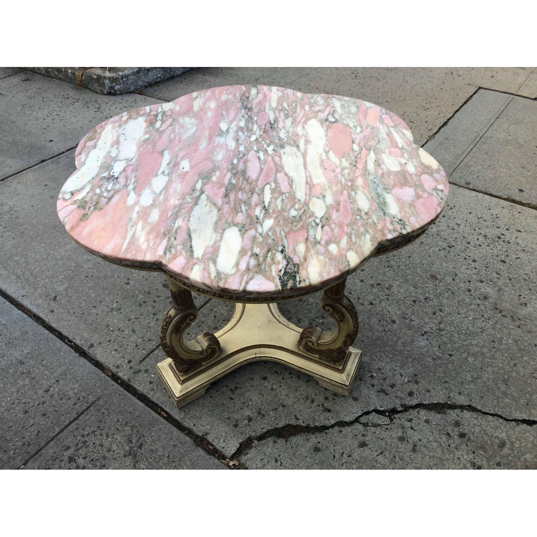 Vintage Italian Marble Top Side Table - image-22