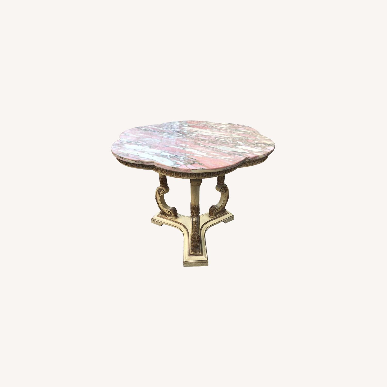 Vintage Italian Marble Top Side Table - image-0