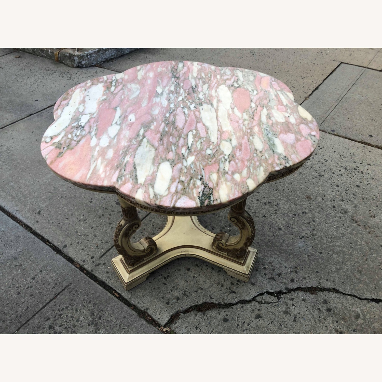 Vintage Italian Marble Top Side Table - image-2
