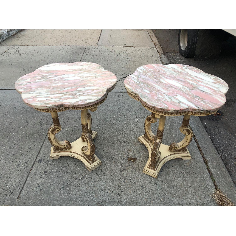 Vintage 1970s Italian Marble Side Table - image-18