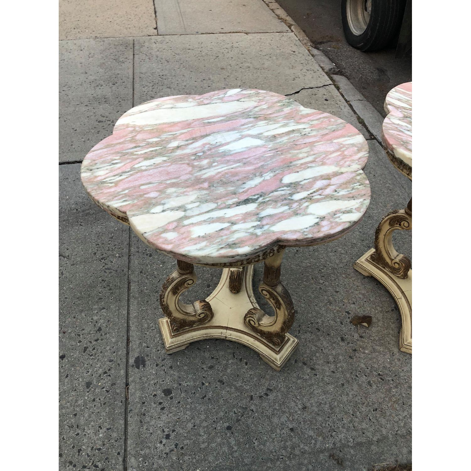 Vintage 1970s Italian Marble Side Table