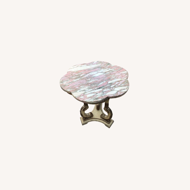 Vintage 1970s Italian Marble Side Table - image-0