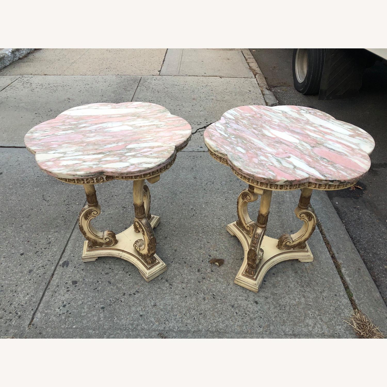 Vintage 1970s Italian Marble Side Table - image-1