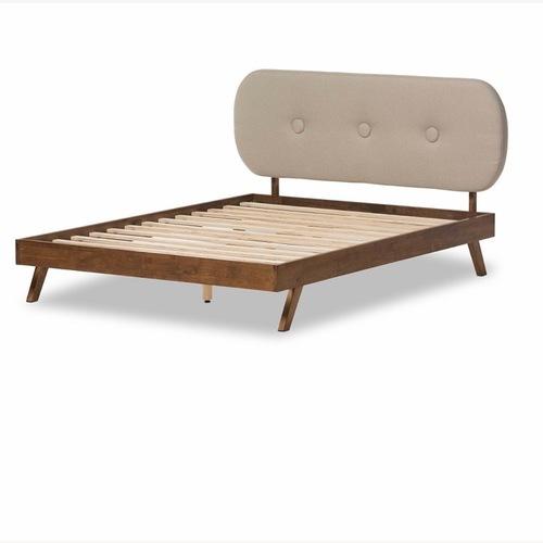 Baxton Studio Platform Queen Size Bed