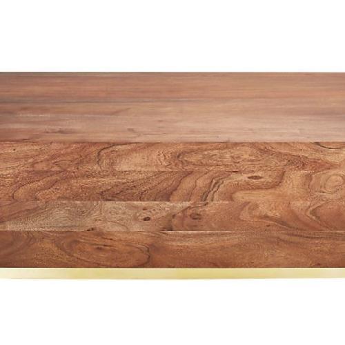 CB2 Joni Wood & Brass Coffee Table