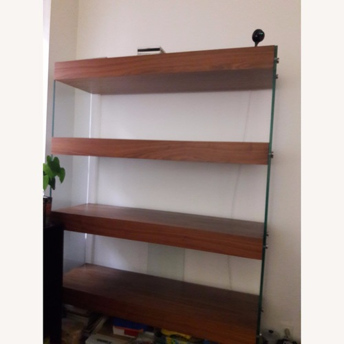 LA Contemporary Wooden Bookshelf w/ Glass Sides