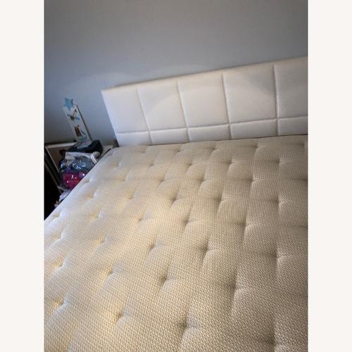 Duxiana King Size White Fabric Headboard