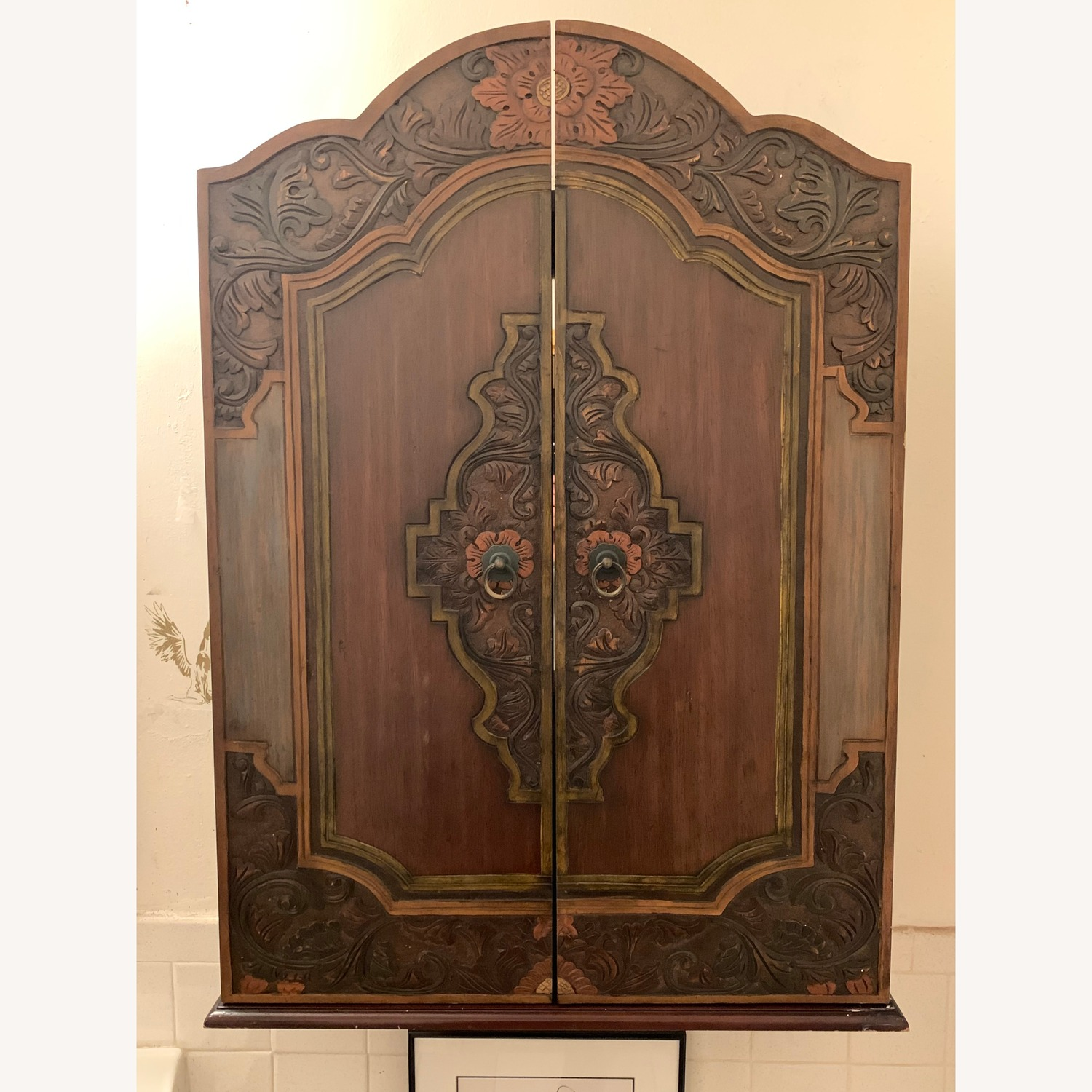 South East Asian Wall Mounted Cabinet - image-25
