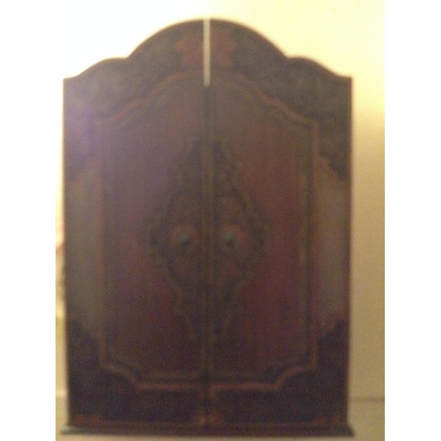 South East Asian Wall Mounted Cabinet - image-1