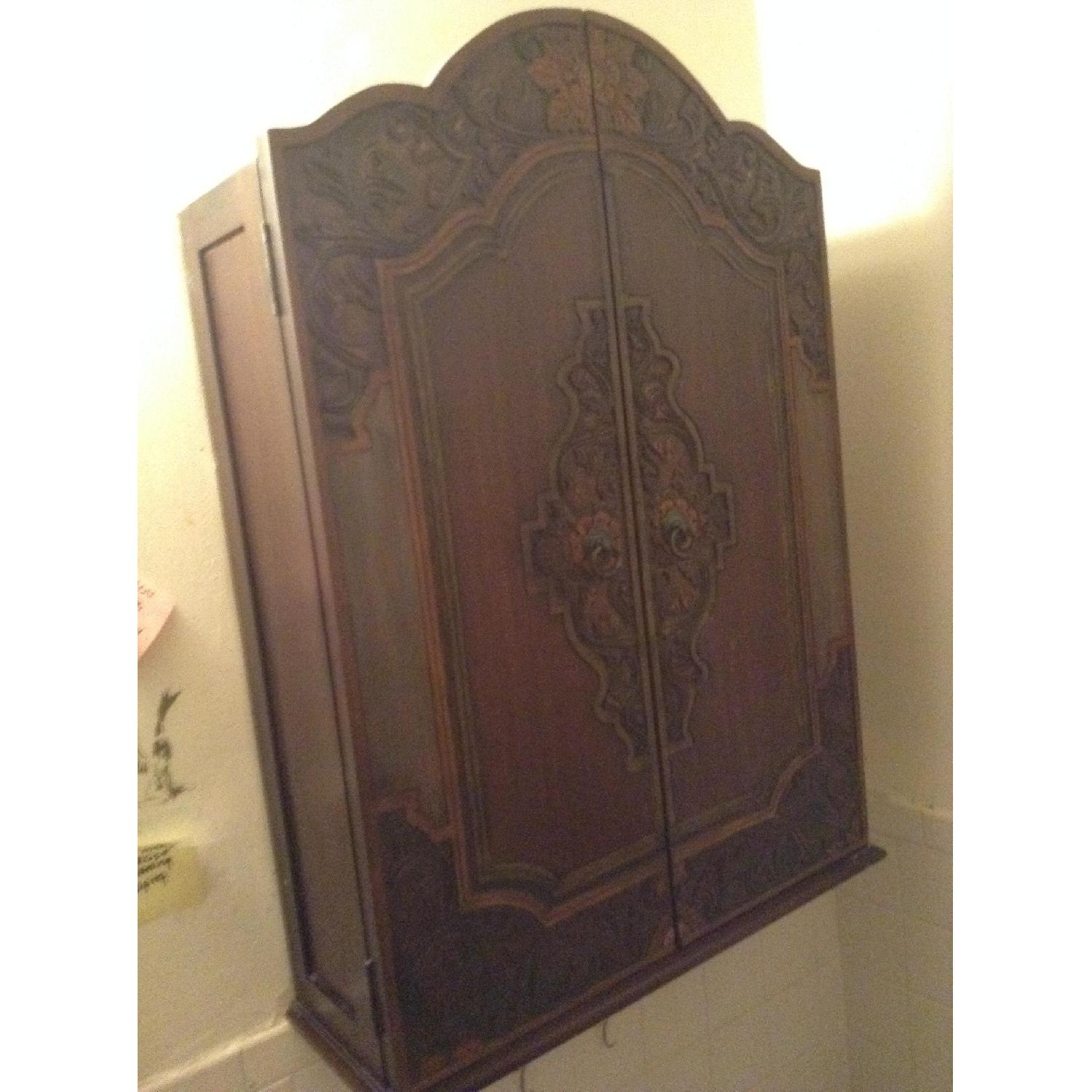 South East Asian Wall Mounted Cabinet - image-11