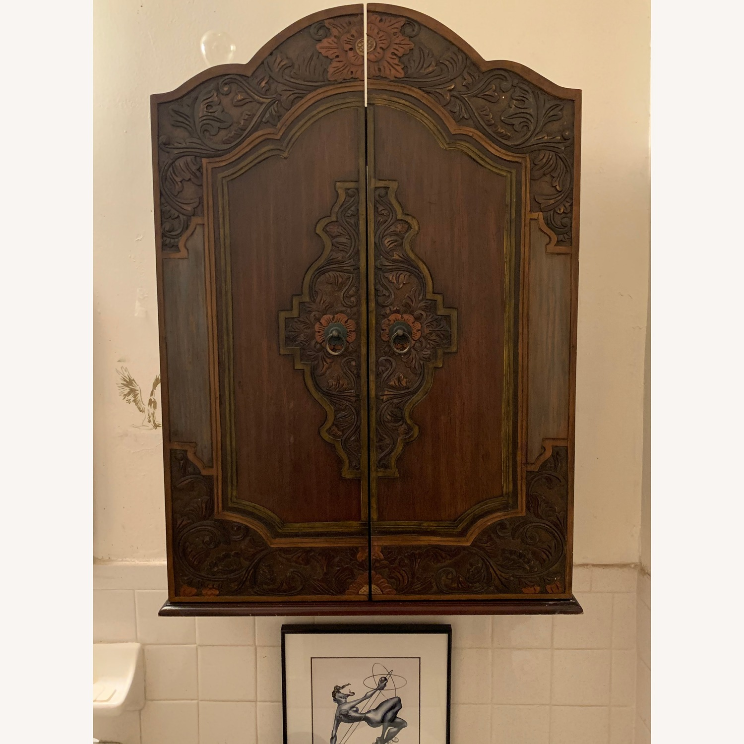 South East Asian Wall Mounted Cabinet - image-0
