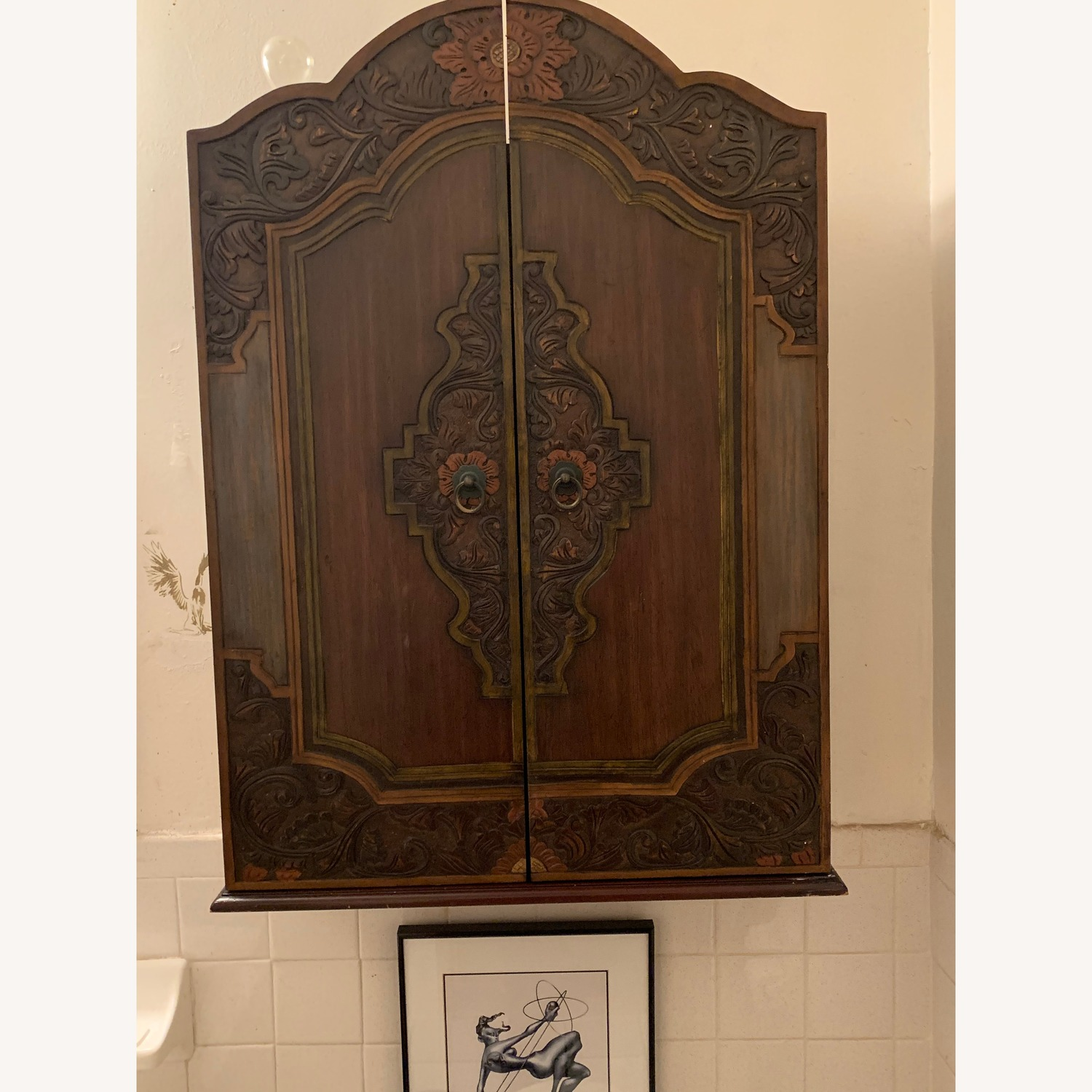 South East Asian Wall Mounted Cabinet - image-33