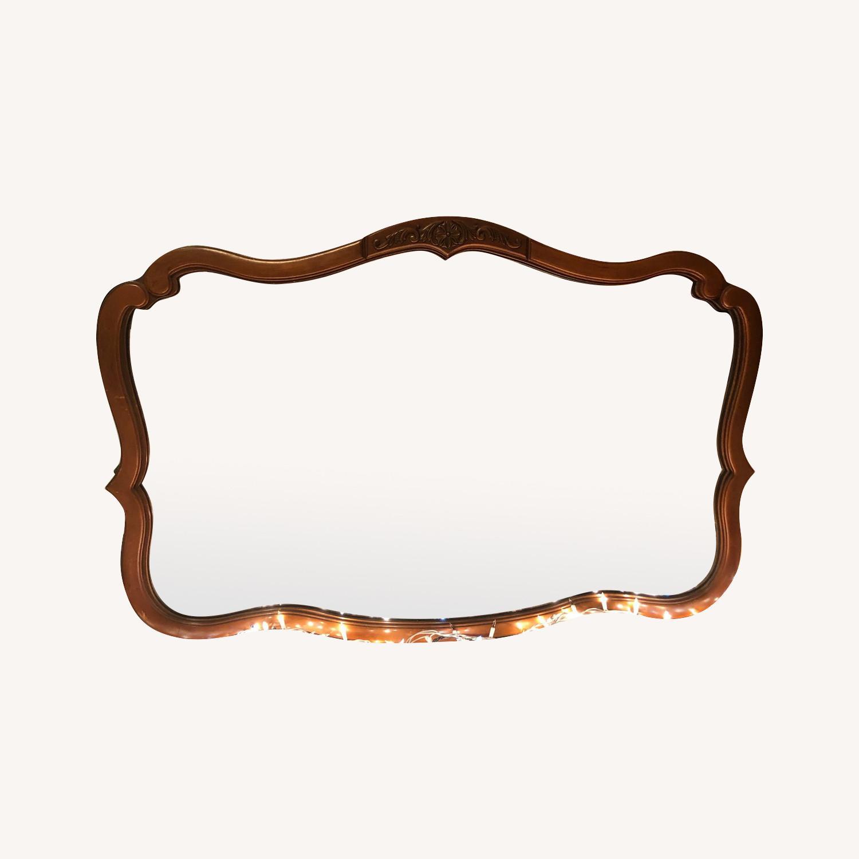 19th Century Antique Oak Mirror - image-0