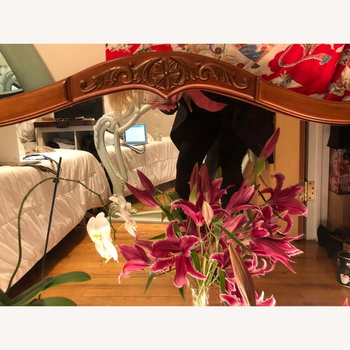 Used 19th Century Antique Oak Mirror for sale on AptDeco