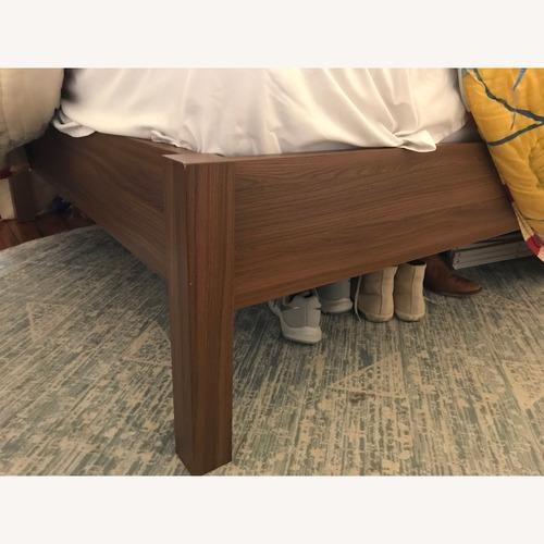 Ikea Nyvoll Dark Wood Full/Double Bed Frame