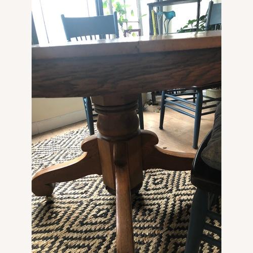 Antique Oak Pedestal Dining Table