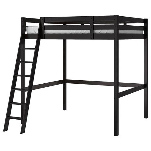 Ikea Stora Black Full/Double Loft Bed