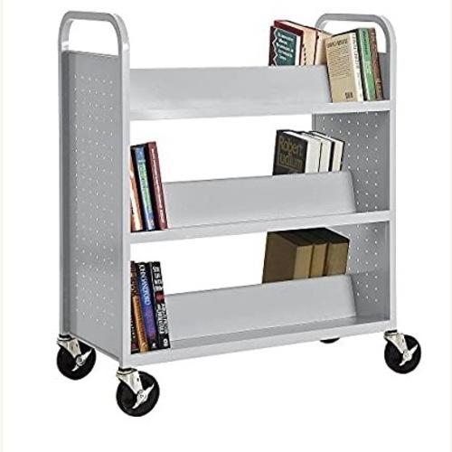 Welded Book Truck Cart Bookcase