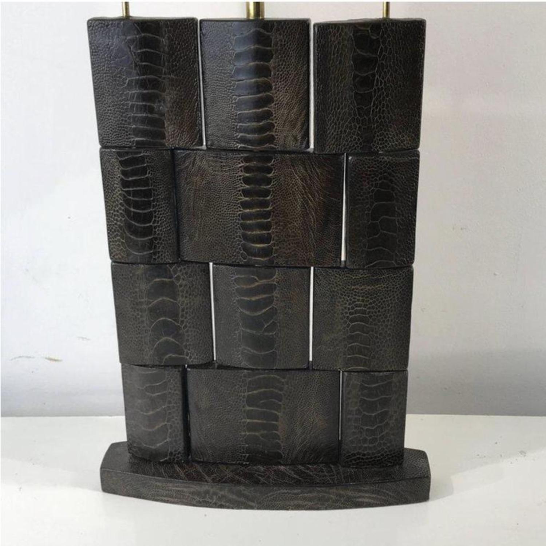 R&Y Augosti Vintage Leather Snakeskin Lamps
