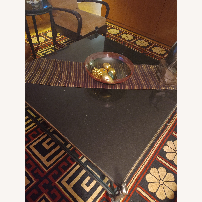 Carol Gratale Granite & Glass Coffee Table - image-1