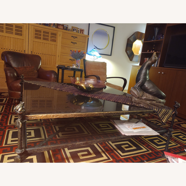 Carol Gratale Granite & Glass Coffee Table - image-2