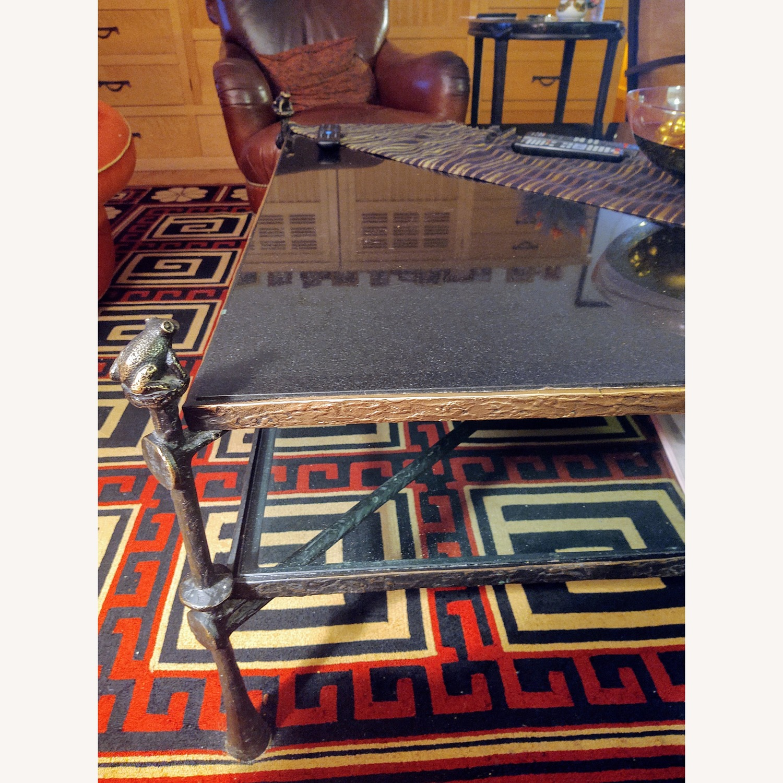 Carol Gratale Granite & Glass Coffee Table - image-3