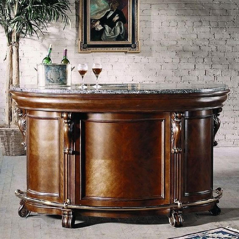 Pulaski Furniture Edwardian Gray Marble Bar