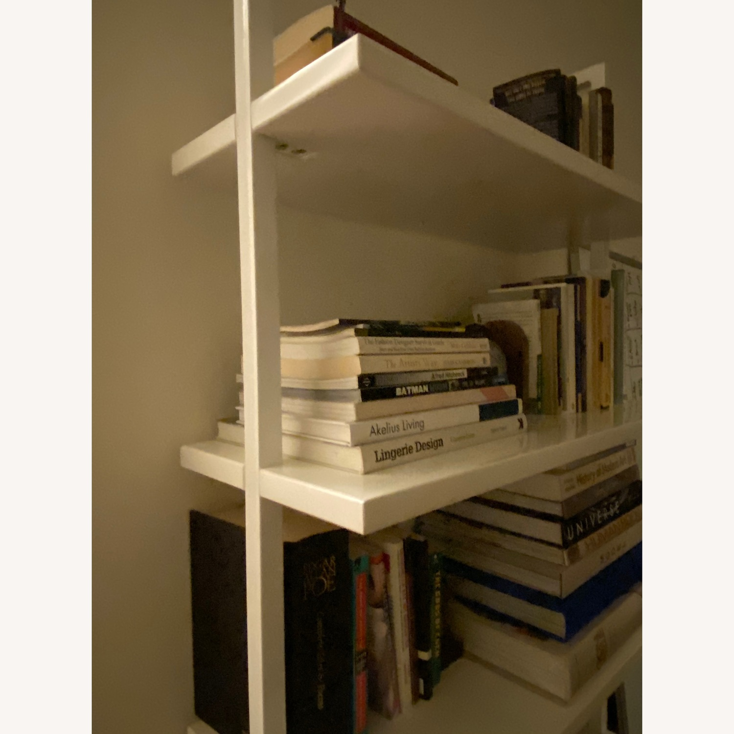 Cb2 Stairway White Wall Mounted Bookcase