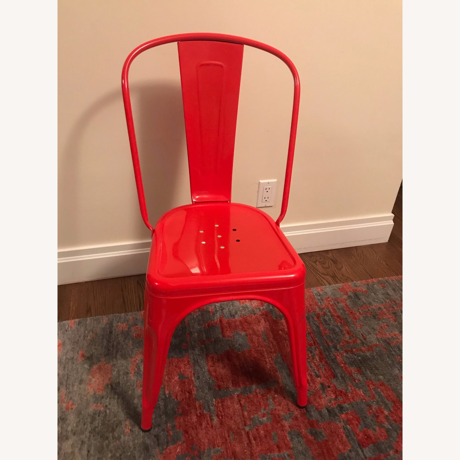 Antiquaire Tolix Red Dining Chairs