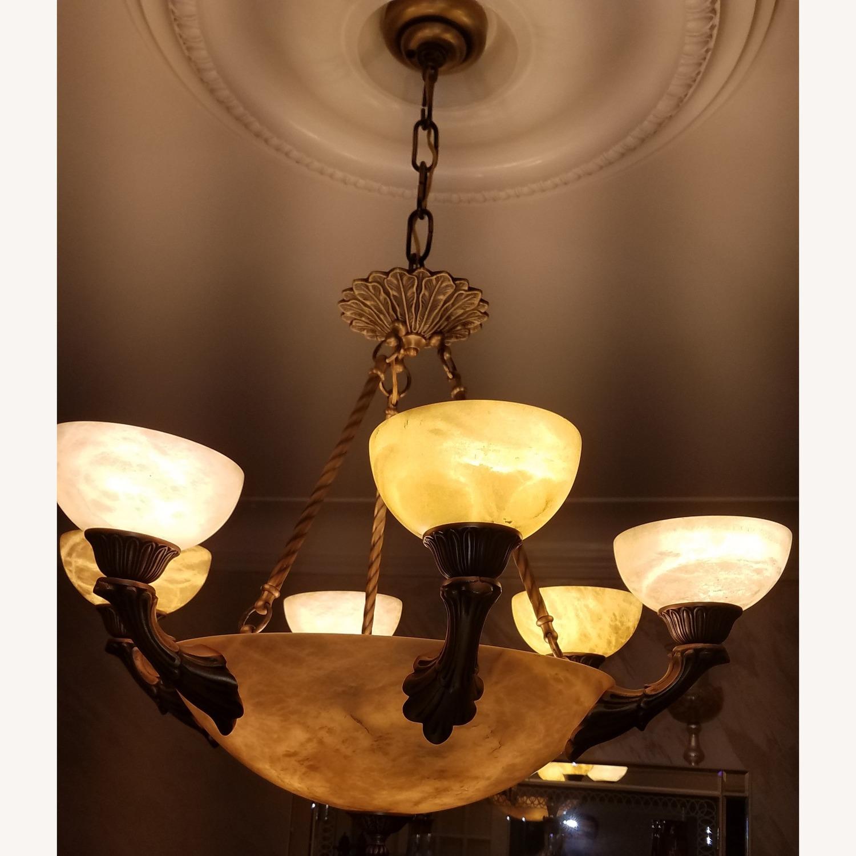 Alibaster 6 Light Bronze Chandelier - image-3