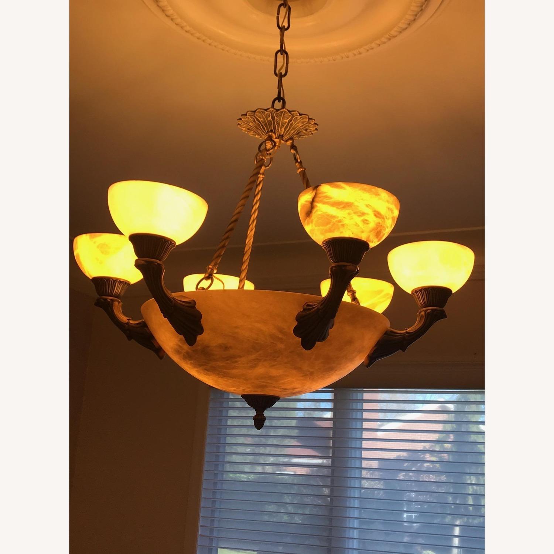 Alibaster 6 Light Bronze Chandelier - image-1