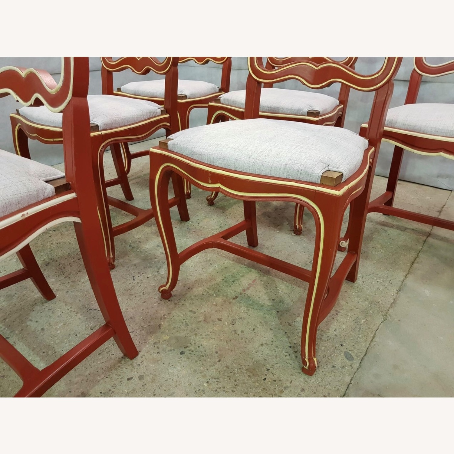 Moustache Early 1940s French Country Oak Chairs
