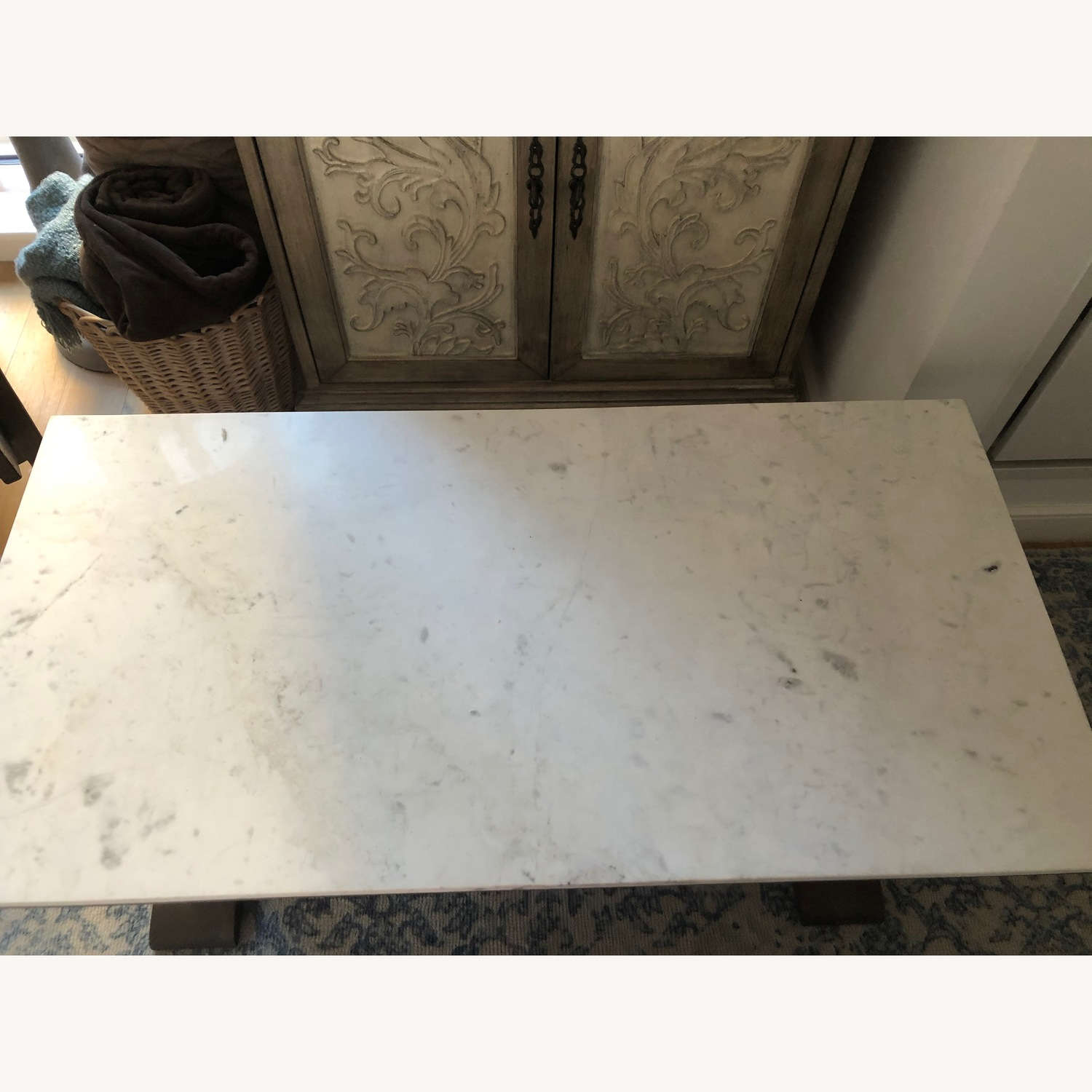 Pottery Barn Marble Coffee Table