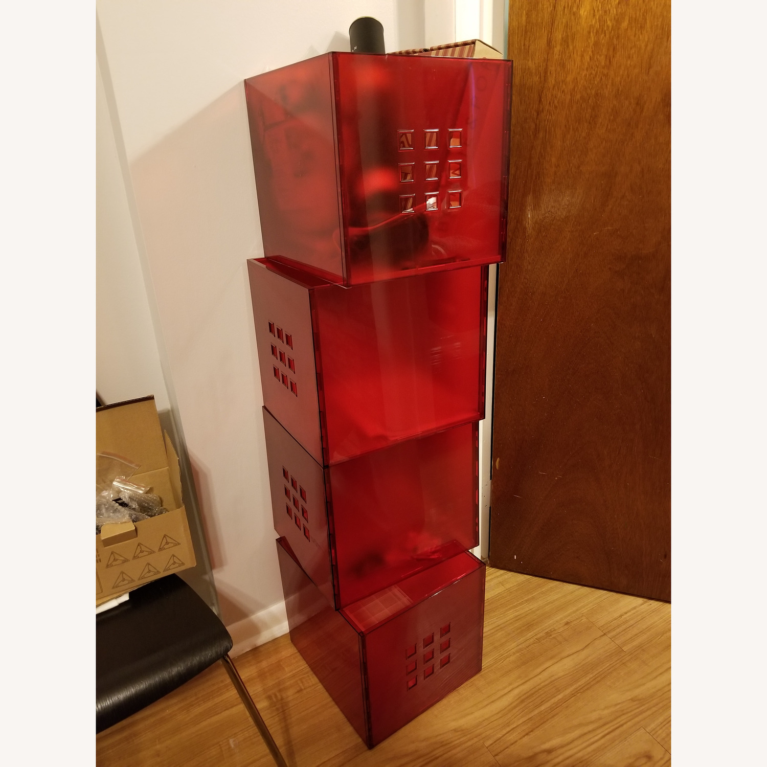 Ikea Lekman Boxes in Red - image-1